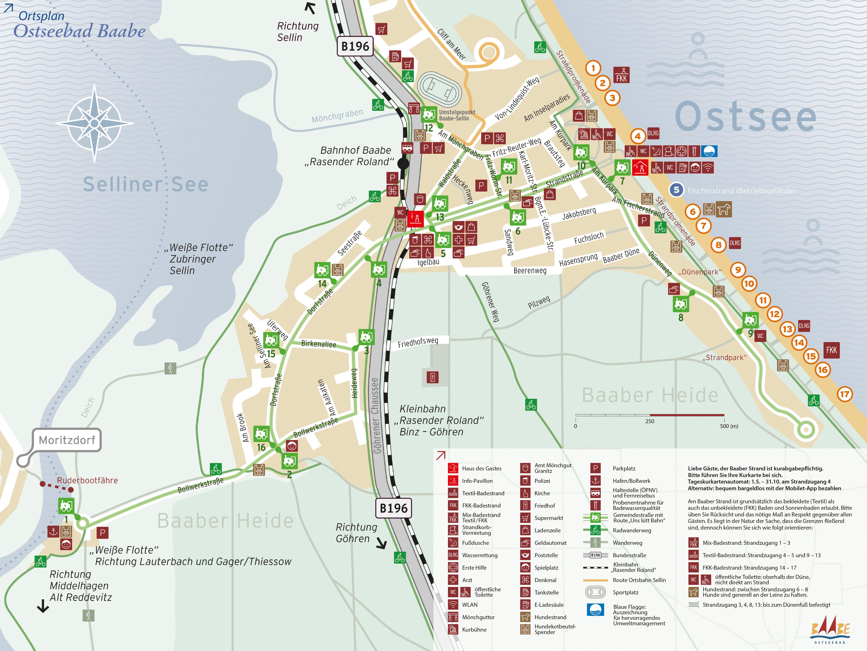Ortsplan Ostseebad Baabe