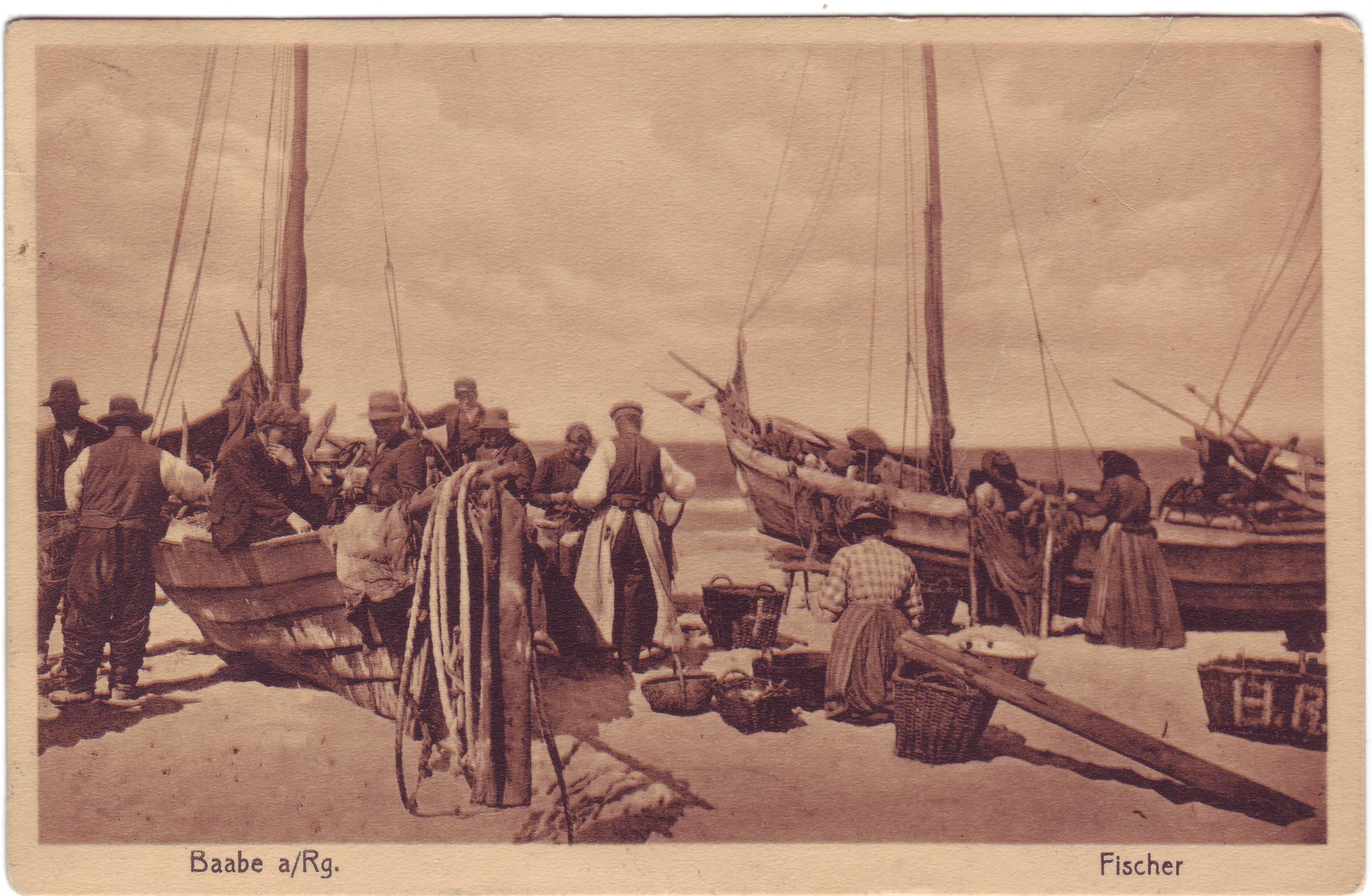 Fischer am Baaber Strand 1919