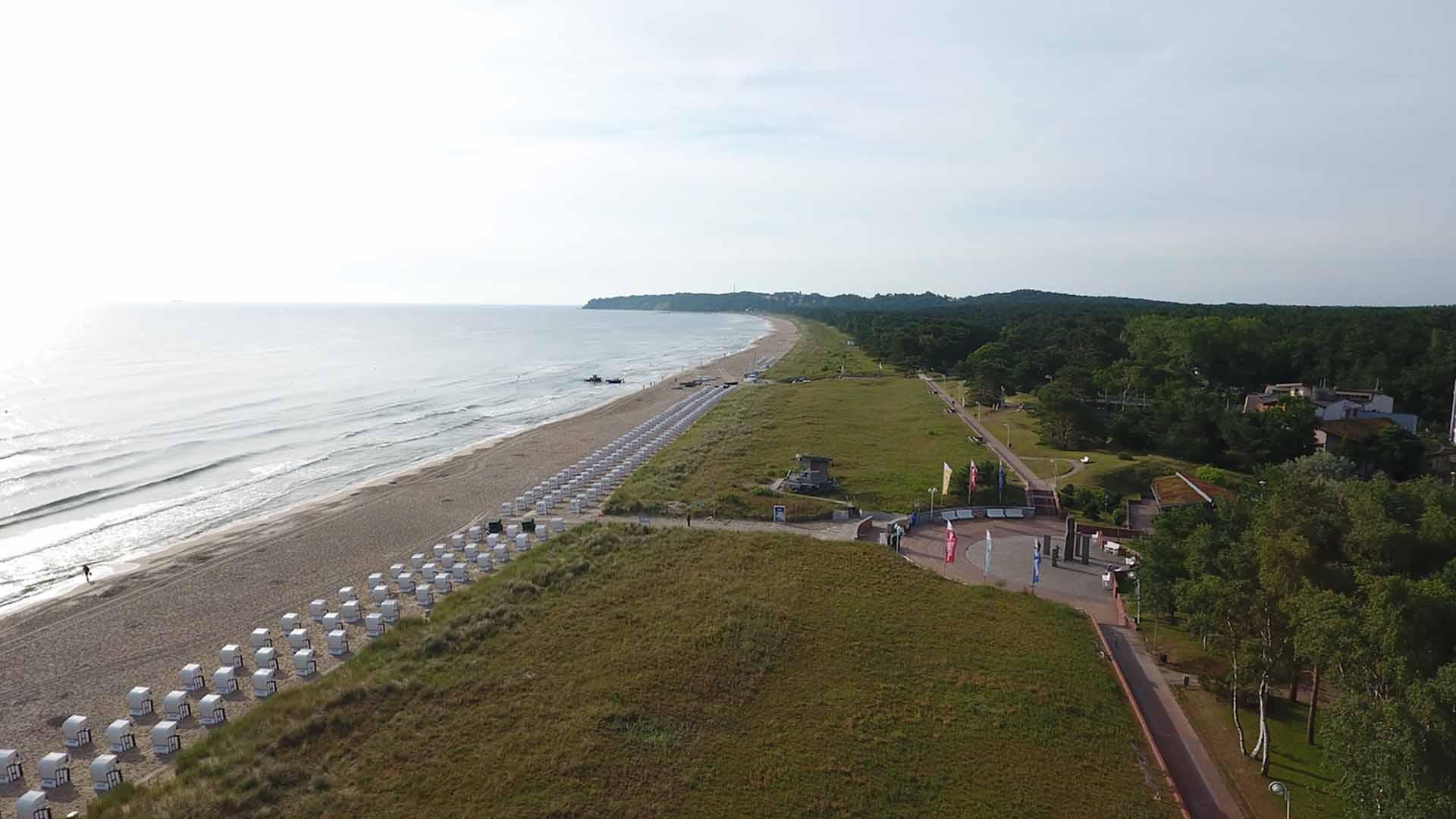 Luftbild Strand Baabe