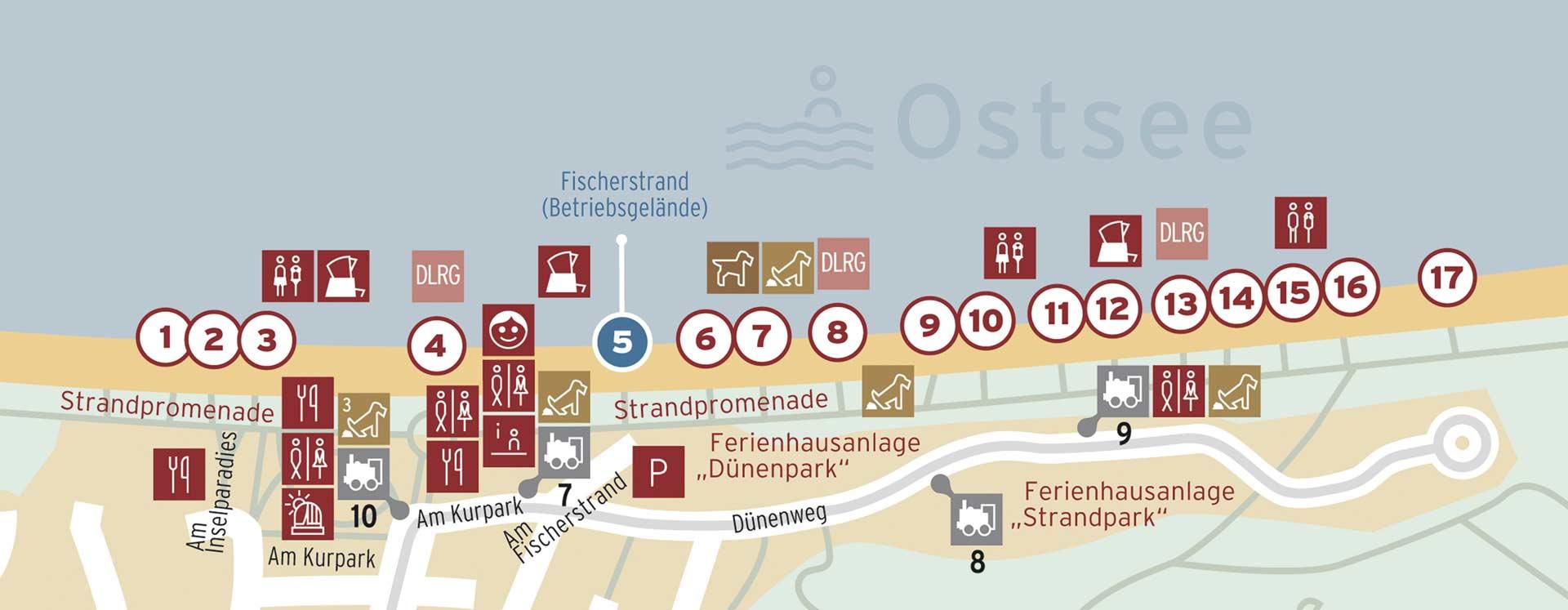 Strandplan Ostseebad Baabe